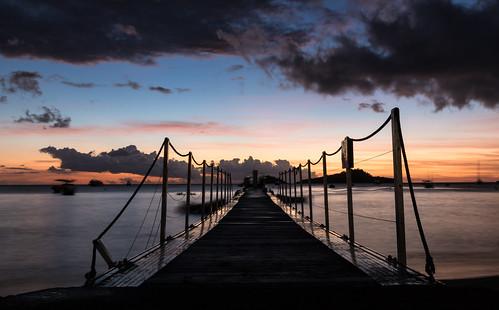 plage beach malendure guadeloupe bouillante nuit night ciel sky le ponton