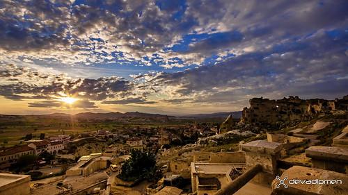 çavuşin göreme kapadokya landscape nevşehir sunset türkiye ürgüp istanbul
