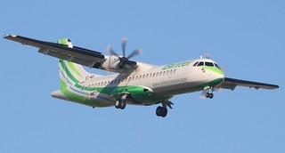 ATR 72-600 BINTER CANARIAS F-WWET MSN1359 (EC-MOL A L'AEROPORT TOULOUSE-BLAGNAC LE 21 12 16.