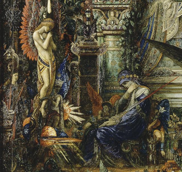 Gustave Moreau - Jupiter und Semele, detail unten 21a  Engel & Madonna links [1894-95] - Paris, Musée GM