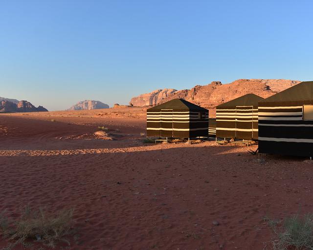 Campamento de jaimas en Wadi Rum