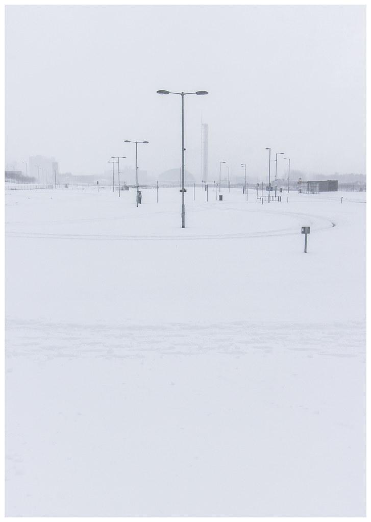 Empty Glasgow in the Snow