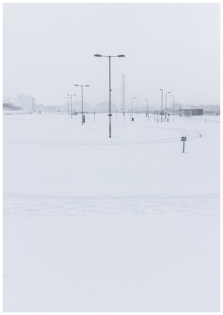 Empty Glasgow in the Snow