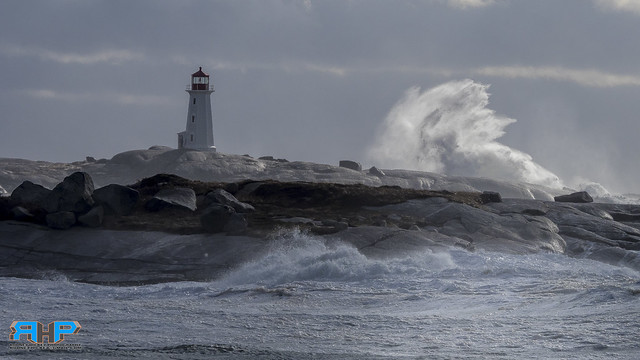 Peggys Cove Storm Waves Breaking