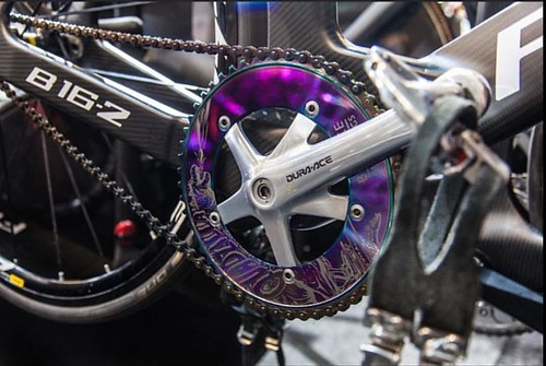 The beginning of Bespoke Chainrings 'Spotto!' at the 2018 UCI World Champs in Apeldoorn started with this shot from @merlingraphy on Wednesday, thank you 😍 The Special Edition @robertfoerstemann 'Quadzilla!' 💪🚴💨 #bespokech | by bespokechainrings