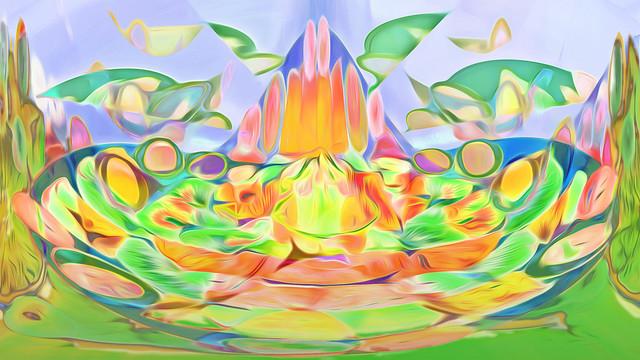 Bildschichten Fruechteteller 90z6 Als bunte Krone / As a colourful crown