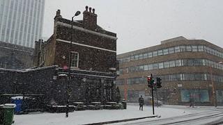 Snowy morning in Southwark, London, February 2018