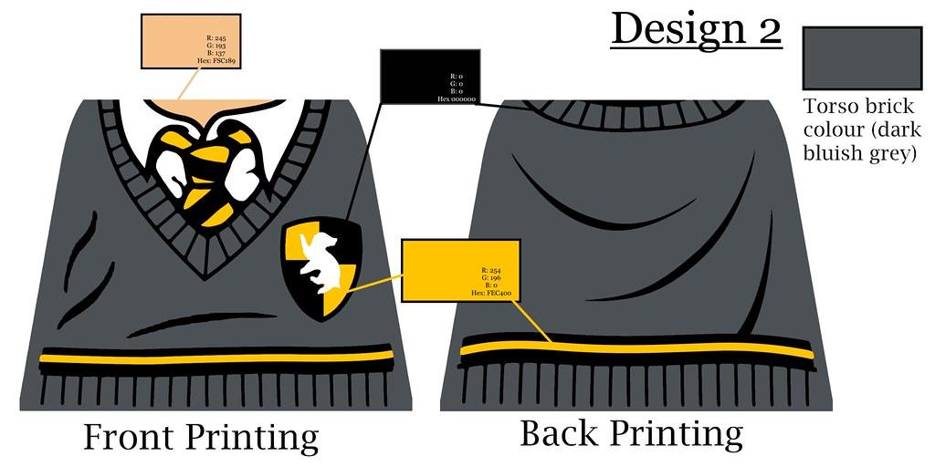 Custom LEGO - Hufflepuff Design   Made these custom designs …   Flickr