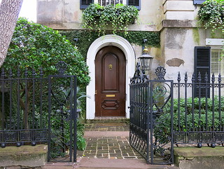 Open gate and front door, 10 Legare Street (1857), Charleston, SC