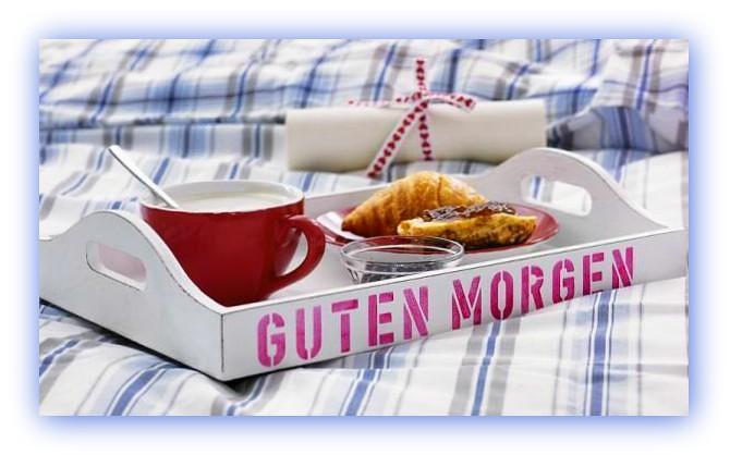 Guten Morgen Ich Bringe Das Frühstück Ans Bett Euch All