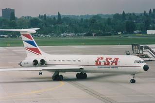 OK-JBI IL-62  @ Dusseldorf 01-05-1993