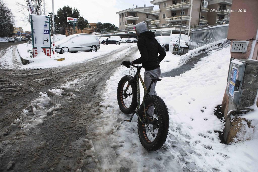neve a La Storta Ciclista