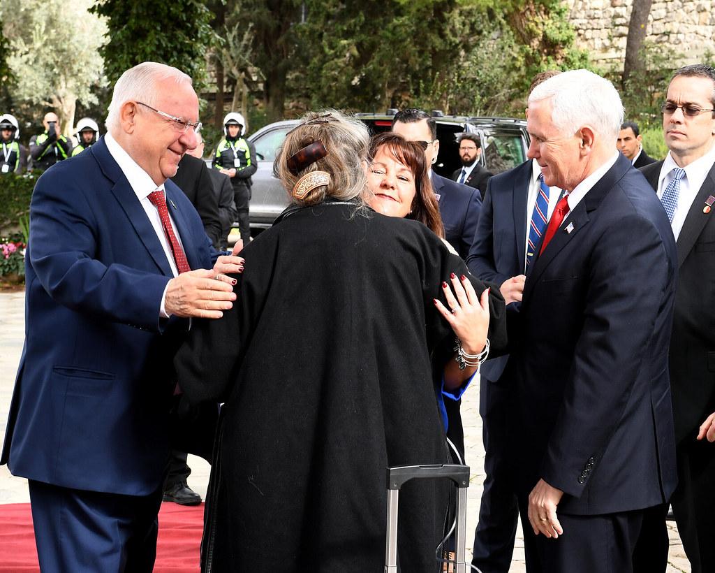 VP Mike Pence meets President Reuven Rivlin