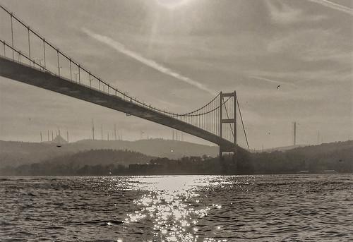 bosporus silu silhouette istanbul