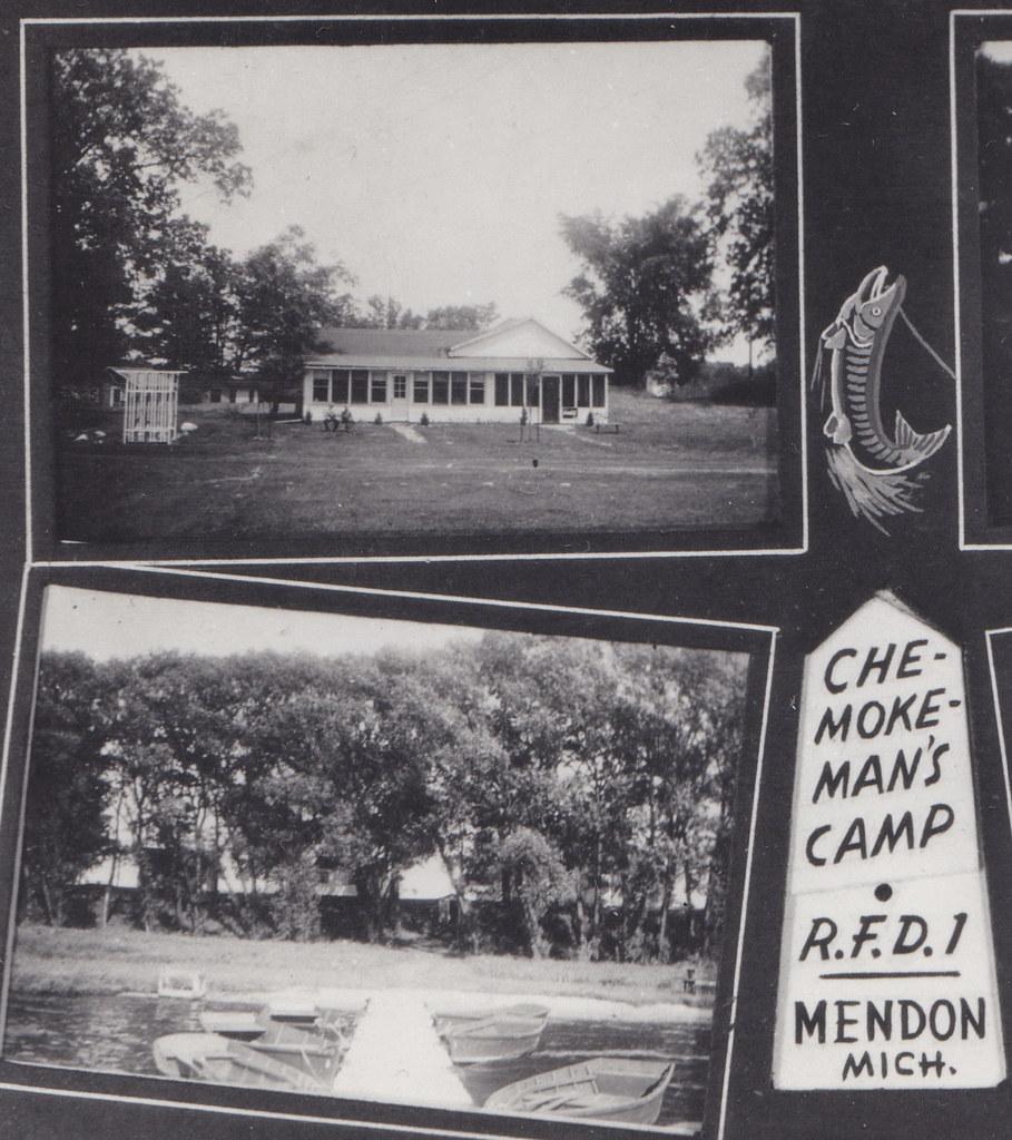 Three Rivers Michigan: CEN Mendon Three Rivers MI 1940s RPPC CHE-MOKE-MAN'S CRESO