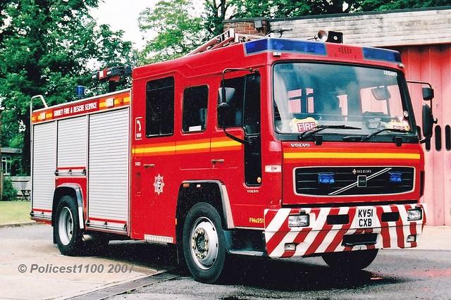 Surrey F&RS Volvo FL6 KV51 CXB