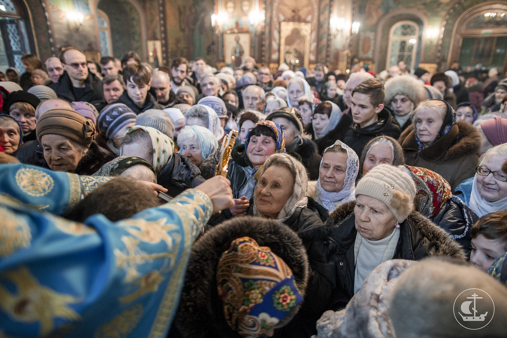 15 февраля 2018, Литургия в Петергофе. Сретение Господне / 15 February 2018, Divine Liturgy in Peterhof. The Meeting of Our Lord