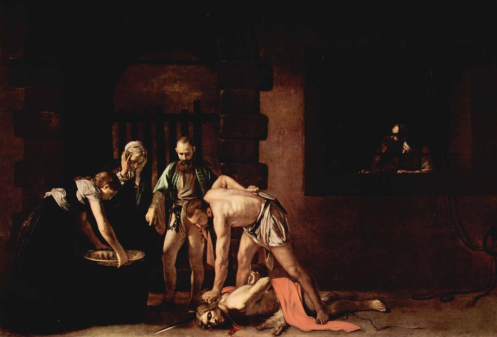 Caravaggio 1608 La Decapitacion De San Juan Bautista Flickr