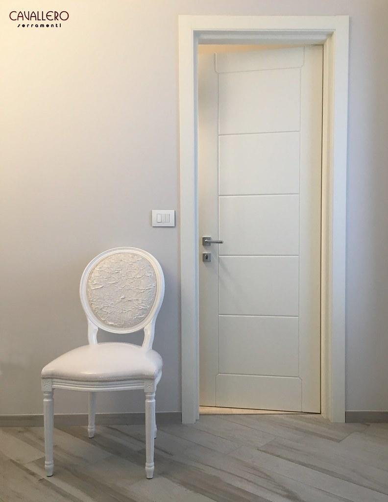 Porta Bianca Moderna.Foto Di Porte Interne In Legno