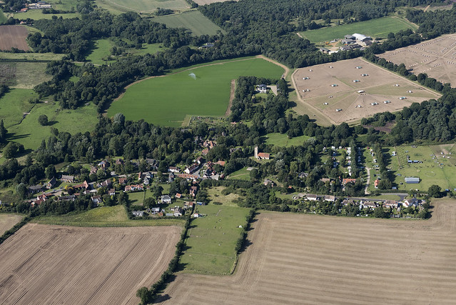 Shottisham in Suffolk - aerial