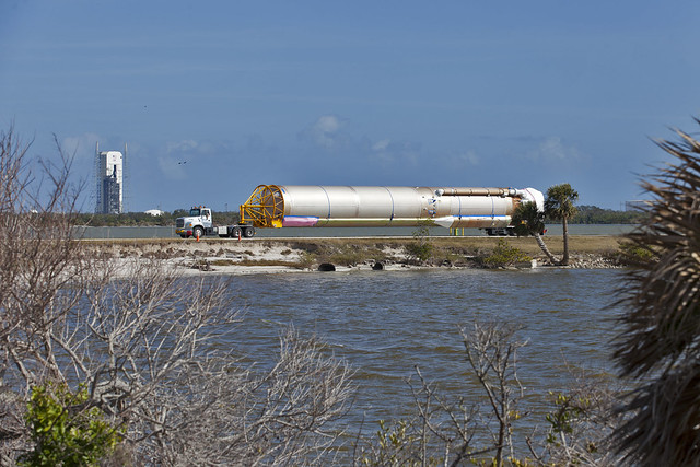 GOES-S Atlas V Booster Tranported to ASOC