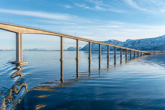 Brücke bei Stokmarknes