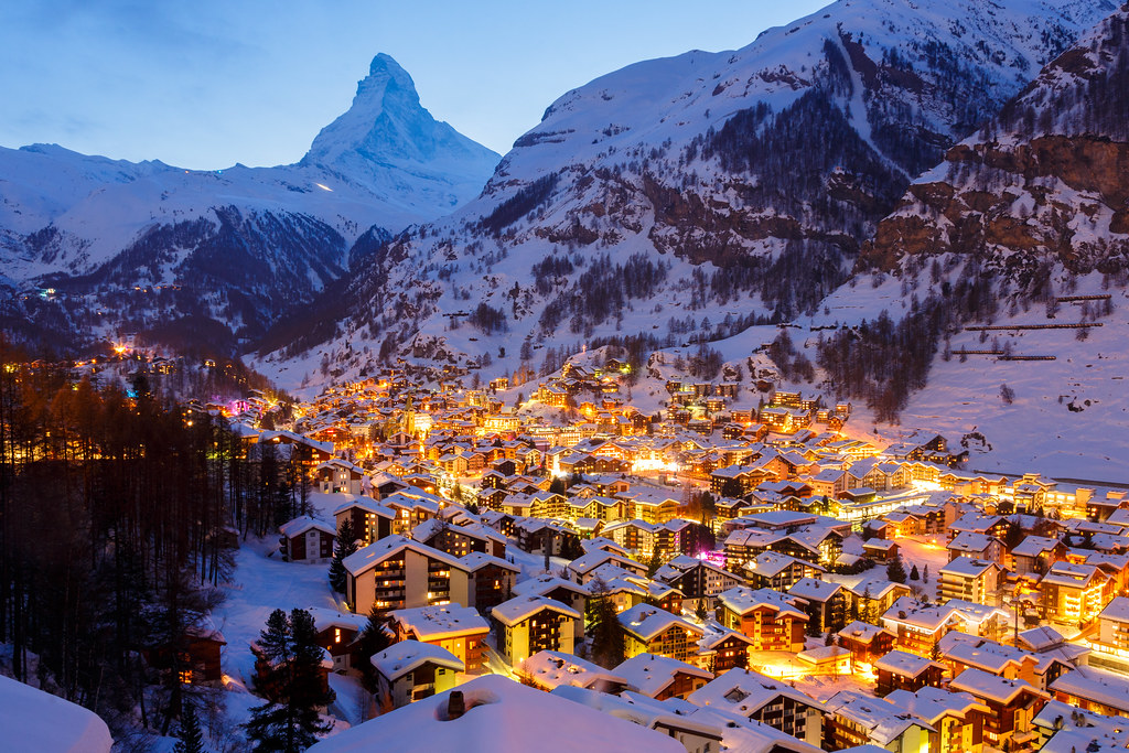 Zermatt By Night Hd Photos And Wallpaper Directory