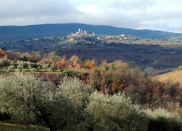 San Gimignano dopo la pioggia