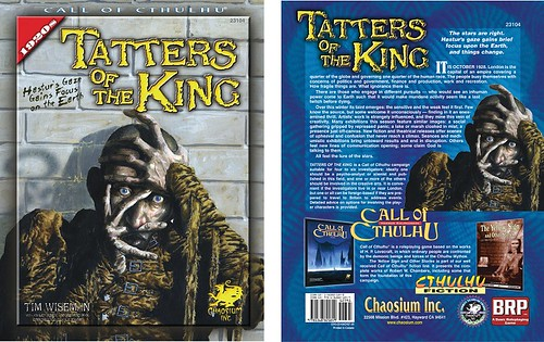 Tatters of the King - Portada y Contraportada Chaosium | by sectario001