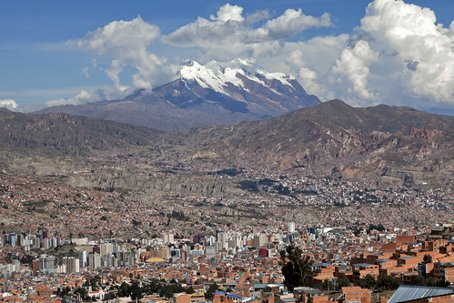 town city view skyline mountain altiplano andes sky clouds lapaz la paz bolivia southamerica south america mountains altitude canon canon5d eos