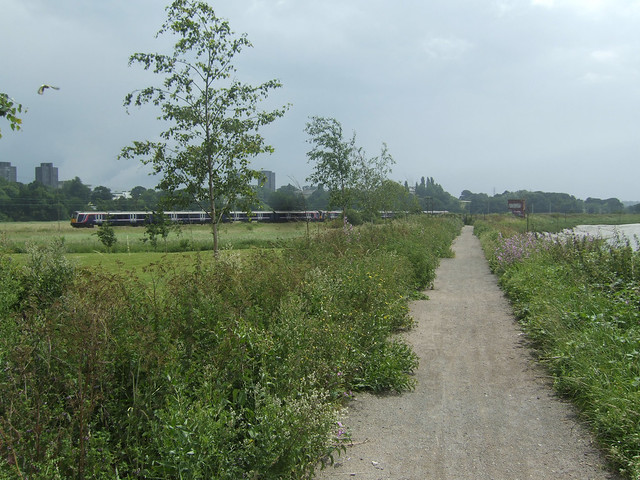 The path beside the river Colne near Colchester