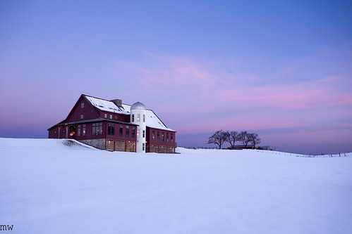 gibbethill barn groton sky snow trees dawn winter 6d 1740mm