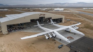 Stratolaunch aircraft by Stratolaunch Systems Corp., Mojave Air and Space Port. | by aeroman3