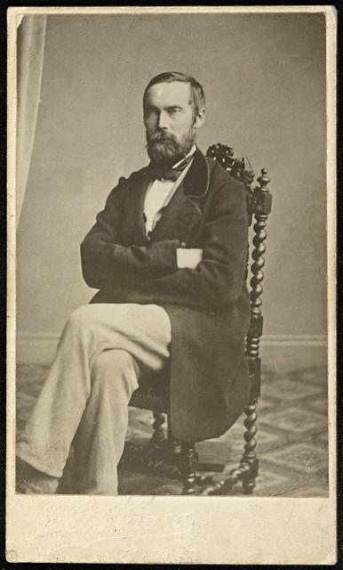 Portrett av forfatter Aasmund Olavsson Vinje (1818-1870)