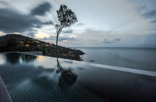 REFLECTIONS AFTER SUNSET IN KOH SAMUI