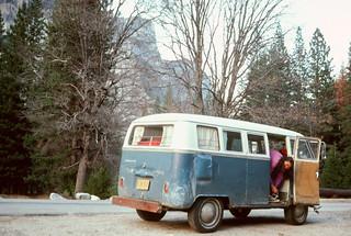 Faye in her VW Bus | by Richard-