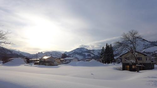 町中の農地も冬は深い雪に覆われ、一面銀世界に