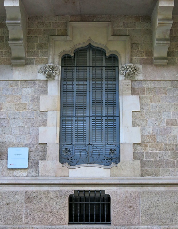 A Moorish influenced window frame, Barcelona