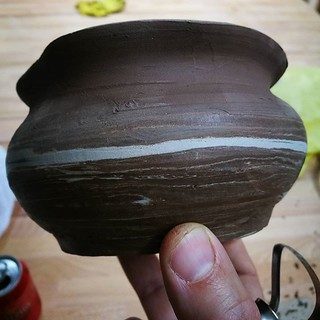 Half trimmed #bowl for sugar. Mix of two types of clay. Sure looks nice | by woss
