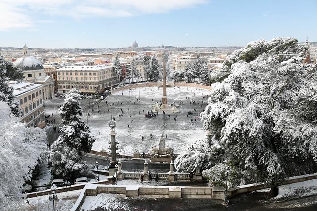Neve Roma febbraio 2018 - Storm Burian_49