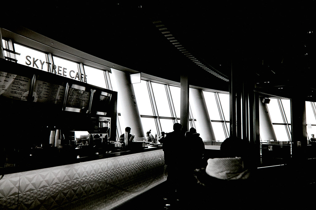 Skytree Cafe in Tokyo Japan