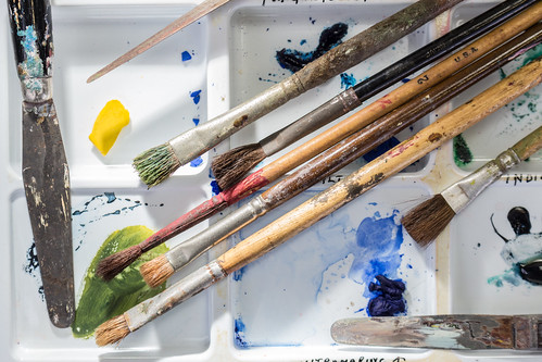 Artists Paint Brushes and Tools   by ShebleyCL