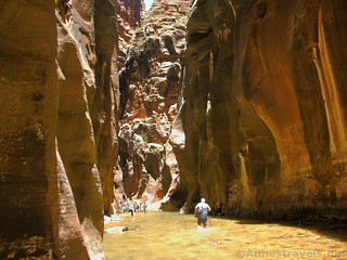 Hiking the Zion Narrows, Zion National Park, Utah