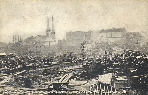 pennsylvania johnstown flood 1889 cityinruins postcard vintage