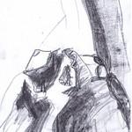 Akt liegend  Grafit 20x30 2013