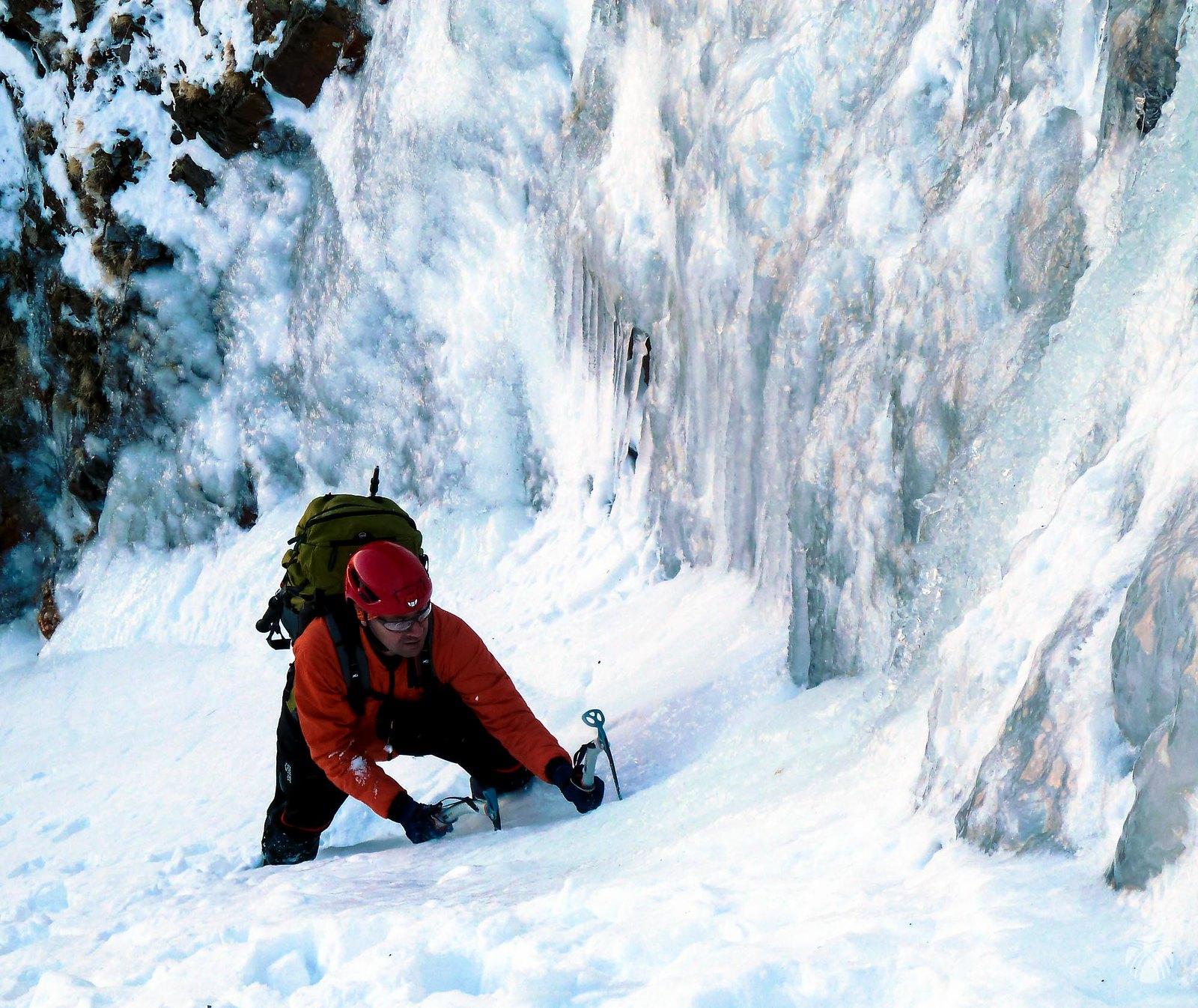 Buscando las zonas con hielo para practicar