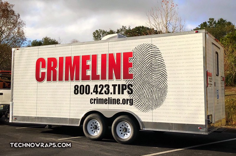 Crimeline Trailer Wrap