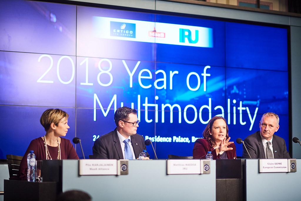 From the left: Piia Karjalainen (MaaS Alliance), Matthias