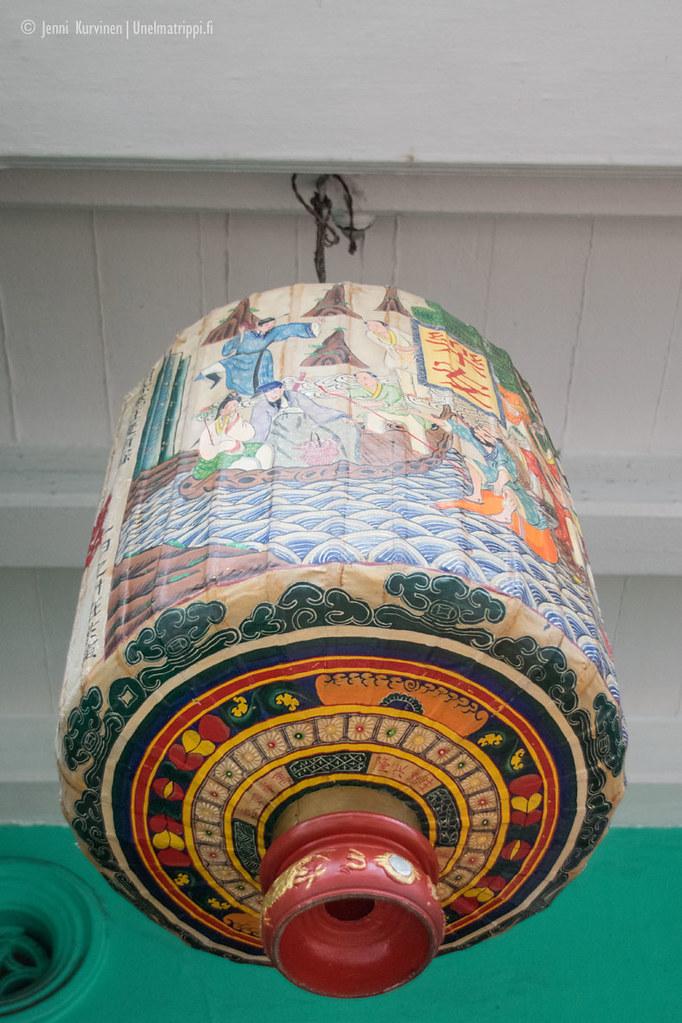 Koristeltu paperilyhtyvalaisin Malakan vanhassa kaupungissa