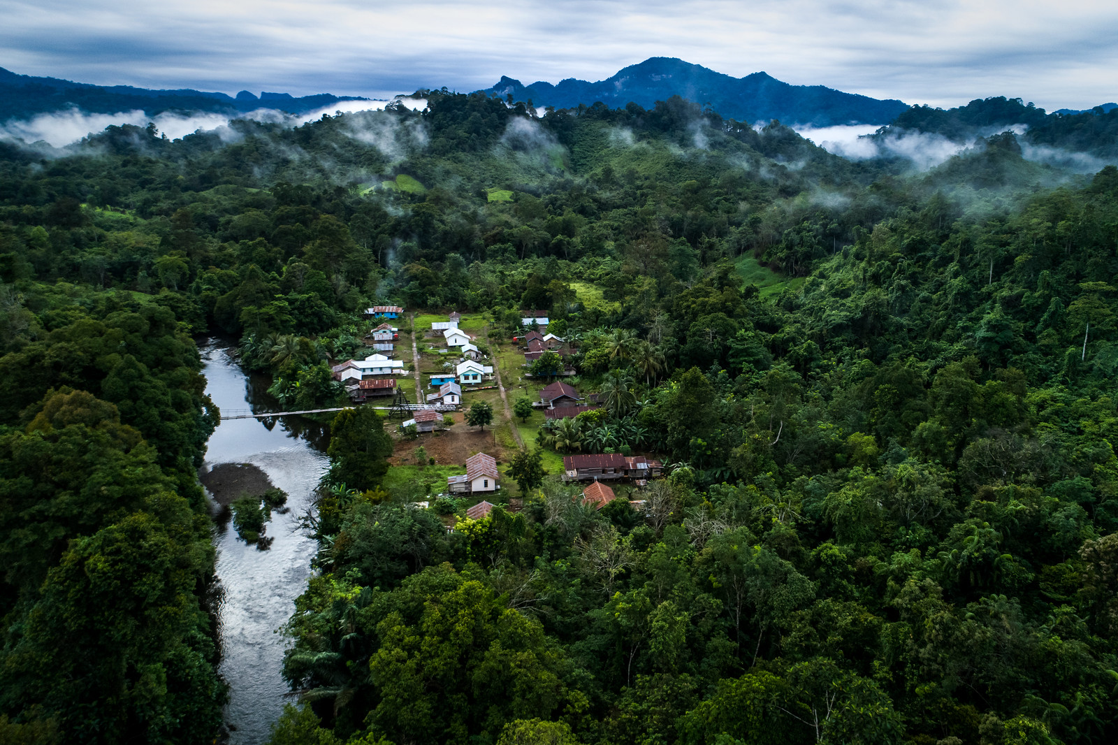 photo of Aerial view of West Kalimantan